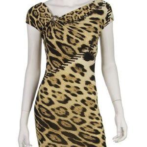 Roberto Cavalli Animal Print Stretch Dress